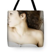 Beauty In White Tote Bag by Margie Hurwich