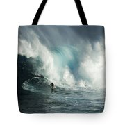 Beauty Of Surfing Jaws Maui 7 Tote Bag