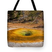 Beauty Pool In Upper Geyser Basin In Yellowstone National Park Tote Bag