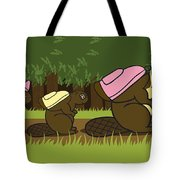 Beaver Family Walk Tote Bag
