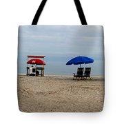 Beach Chairs Panorama Hilton Head  Tote Bag