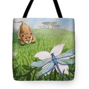 Beckoning The Little Predator To Come Closer Tote Bag