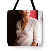Becky By The Window Tote Bag