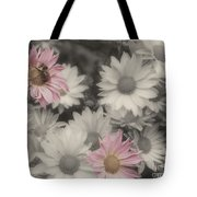 Bee And Daisies In Partial Color Tote Bag