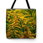 Bee And Goldenrod Tote Bag