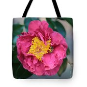 Bee And Wasp On Camellia Tote Bag