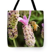 Bee At Work Here Tote Bag