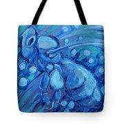 Bee Blue Tote Bag