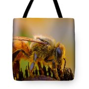 Bee Covered In Pollen Tote Bag