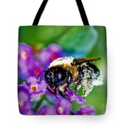 Super Bee Covered With Pollen Tote Bag