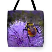 Bee Flower Tote Bag by Roger Snyder