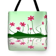 Bee Flowers Tote Bag