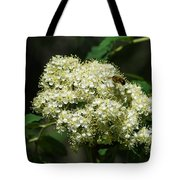 Bee Hovering Over Rowan Truss - Featured 3 Tote Bag