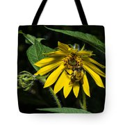 Bee In A Wild Flower Tote Bag