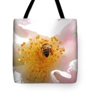 Bee In Camellia Tote Bag