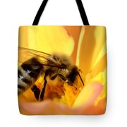 Bee In Flower Tote Bag