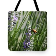 Bee In Lavender Tote Bag