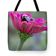 Bee In Pink Flower Tote Bag