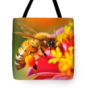 Bee Laden With Pollen 2 By Kaye Menner Tote Bag