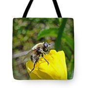 Bee Mimic On Primrose Tote Bag