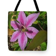 Bee My Clematis Tote Bag