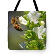 Bee On Basil Tote Bag