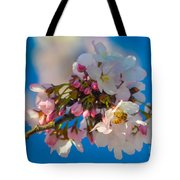 Bee On Blossom Tote Bag