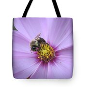 Bee On Cosmos Tote Bag