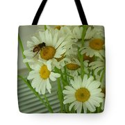 Honey Bee On Daisy Print Photo For Sale Tote Bag