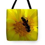 Honey Bee On Sunflower Tote Bag