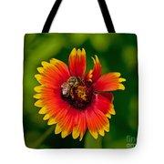 Bee On Orange Flower Tote Bag