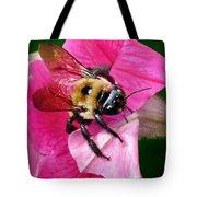Bee On Petunia Tote Bag
