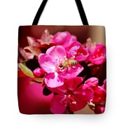 Bee On Pink Blossoms 031015ab Tote Bag
