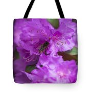 Bee On Rhododendrons Tote Bag