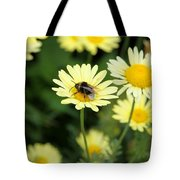 Bee On Yellow Tote Bag