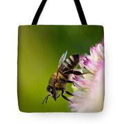 Bee Sitting On A Flower Tote Bag
