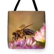 Bee Sitting On Flower Tote Bag