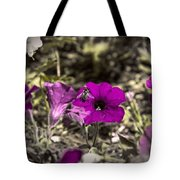 Bee To A Flower Tote Bag