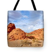 Beehive Rock Formation Under A Stormy Sky In Nevada Valley Of Fire State Park Tote Bag