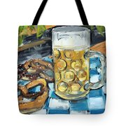 Beer And A Pretzel Tote Bag