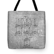 Beer Brewery Patent Charcoal Tote Bag