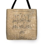 Beer Brewery Patent Illustration Tote Bag