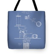 Beer Drawing Apparatus Patent From 1885 - Light Blue Tote Bag