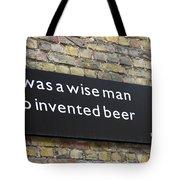 Beer Sign Tote Bag