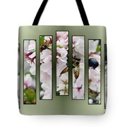 Bees And Blossoms Tote Bag