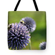 Bees On Globes Tote Bag