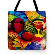 Beet Salad Pointillism Tote Bag