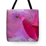 Beetle On A Rose Tote Bag