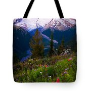 Before Dawn At Mount Rainier Tote Bag