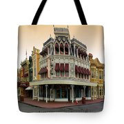 Before The Gates Open Magic Kingdom Main Street. Tote Bag
